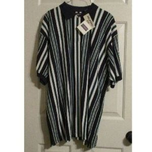 NEW 90s Polo Golf Rugby Striped Shirt Mens LARGE
